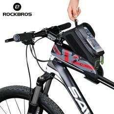ROCKBROS Tabung Atas Tas Depan Sepeda Bersepeda Rangka Sepeda Sadel Paket For Ponsel Tahan Air Layar Sentuh Mm X 80mm untuk Sepeda Empat Warna Dua Ukuran (6,0 Inci Layar Sentuh Merah) -Internasional
