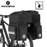 Review Pada Rockbros Bike Bicycle Bag 48L Mtb Bike Rack Bag 3 In 1 Multifunction Road Bicycle Pannier Rear Seat Trunk Bag With Rain Cover Intl