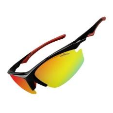 Beli Rockbros Bersepeda Sepeda Satu Polarized Lens 4 Lensa Eyewears Goggles Kacamata Hitam Online Murah