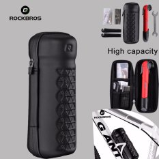 Spesifikasi Rockbros Bersepeda Sepeda Alat Rainproof Portable Sepeda Tas Peralatan Dua Gaya Matte Hitam Online