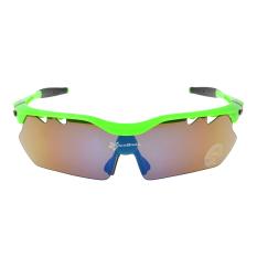 Jual Beli Online Rockbros Bersepeda Olahraga Kacamata Terpolarisasi Kacamata Hitam Kacamata 22G Hijau