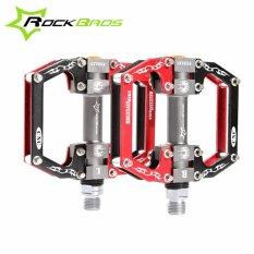 Beli Rockbros Hot Sale Mtb Ultralight Bike Bicycle Pedals Mountain Road Bike Pedal Cycling Aluminum Alloy 3 Styles Hollow Pedals A Red Intl Online Murah