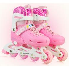 Harga Roller Skate Dengan Set Pengaman Size M Pink Yang Murah