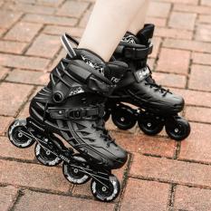 Roller Skating Dewasa Sepatu Inline Skates Hitam Intl Terbaru