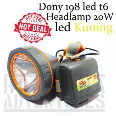 Romusha Head Lamp Senter Kepala Dony 198 Led Cree T6 20W Kuning