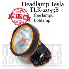 Romusha Headlamp Senter Kepala Tesla TLK-2053B Led T6 20w Free Lampu Gantung