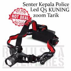 Beli Romusha Senter Keala Headlamp Cree Led Q5 Kuning Police Outdoor Camping Cicil