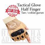 Beli Romusha Tactical Glove Sarung Tangan Half Finger Airsoft Motor Outdoor Tan