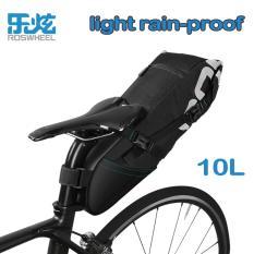 Tips Beli Roswheel 10L Mtb Mountain Road Bike Bag Cycling Back Seat Saddle Bag Bicycle Accessories Black Intl