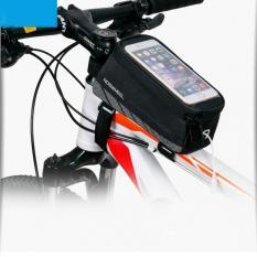 Diskon Roswheel 12496M A6 Mountain Road Bike Bag Touchscreen Tas Sepeda Bersepeda Top Frame Tabung Pelindung Tas Untuk 5 7 Phone Bicycle Aksesoris Hitam M Ukuran Intl Tiongkok