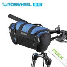 ROSWHEEL 600D Tas Sepeda Depan Bingkai Bersepeda Tas Multi-use Tas Sepeda Tas Stang, Biru