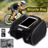 Harga Termurah Roswheel Bicycle Bike Front Top Tube Frame Pannier Double Bag Phone Touch