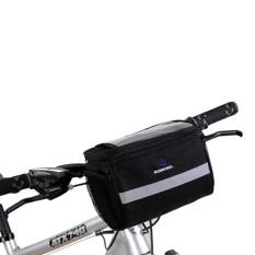 Pusat Jual Beli Keranjang Di Depan Setang Sepeda Gunung Tas Road Mtb Sepeda Layar Sentuh Aksesoris Tas Bersepeda Hitam Tiongkok