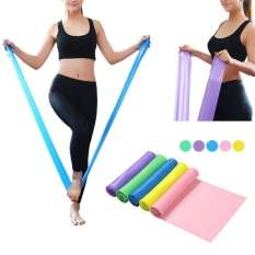 Karet Stretch 1.5 M Elastis Yoga Pilates Latihan Lengan Band Kembali Kaki Fitness-Intl By Airforce.