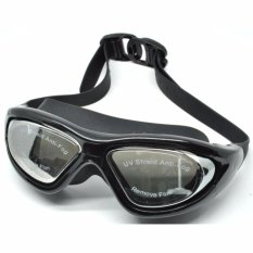 Ruihe Kacamata Renang Big Frame Anti Fog UV Protection RH9110 - Hitam
