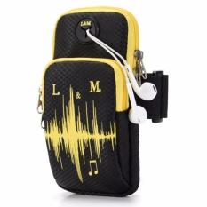 Beli Running Bag Sport Arm Bag For 5 4 6 1 Inch Universal Arm Band Phone Case Adjustable Waterproof Nylon Jogging(Black) Intl Secara Angsuran