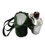 Beli S F Military Stainless Steel 1Qt Canteen With Cup Used Pattern Molle Cover Baru