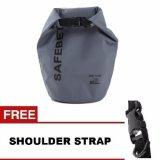Jual Safebet Waterproof Dry Bag 5 L Abu Abu Gratis Shoulder Strap Branded Original
