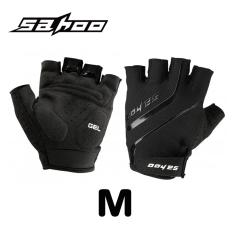 Spesifikasi Sahoo Size M Cycling Gloves Guantes Ciclismo Gel Pad Breathable Half Finger Bicycle Glove Mtb Bike Gloves Summer Black Paling Bagus