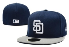 San Diego Padres Unisex Fashion Sneakers Snapback Men Women Baseball Caps MLB Sport Hats New Style Sunscreen Cotton ( Navy Blue )
