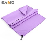 Review Santo Sports Quick Dry Towel Washcloth For Swimming Running Travel Purple Intl