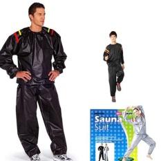Toko Sauna Suit Jaket Baju Sauna Suit Unisex Hitam Sauna Suit