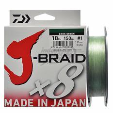 Senar Pancing PE Daiwa J-Braid PE-1 Ukuran 18 Lbs
