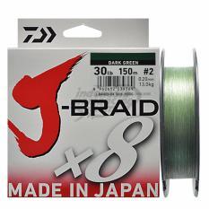 Senar Pancing PE Daiwa J-Braid PE-2 Ukuran 30 Lbs