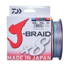 Senar Pancing PE Daiwa J-Braid X8 300M PE-3 Ukuran 40 Lbs