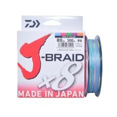 Senar Pancing PE Daiwa J-Braid X8 300M PE-6 Ukuran 80 Lbs