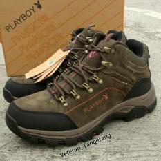Sepatu Gunung / Outdoor / Tracking Ori Merk Playboy - 33Edbd