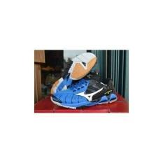 Sepatu Mizuno Tornado X Blue . Sepatu Volly / Voli / Gym / Fitnes / Olahraga Keren Murah
