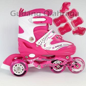 Beli sekarang Sepatu Roda BAJAJ + Deker   Pelindung Inline Skate Satu Set  terbaik murah - Hanya Rp198.598 fa4242085d