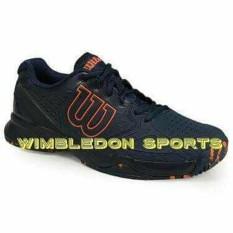 Sepatu Tenis WILSON KAOS COMP Dress Blue NAVY BLAZER FLAME ORANGE