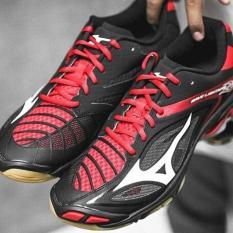 Sepatu Volly Mizuno Wave Lightning Z3 - Black / White / Chinese Red - 6D966B