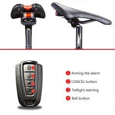 Mountain Bike LED COB Taillights Lampu Kabel USB Rechargeable Anti-Theft Alarm Peringatan dengan Electric Bell Wireless Remote Control Burglar Alarm-Intl