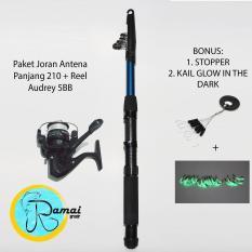 Harga Set Joran Antena Fiber 210 Reel Audrey 200 Bonus Banyak Audrey December Original