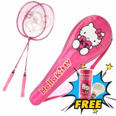 Harga Set Raket Badminton Hello Kitty Merk Sanrio