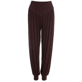 Spesifikasi Sh Bergaya Elastis Pinggang Kausal Baggy Yoga Celana Celana Bloomers Untuk Wanita Kopi Ukuran L Cokelat Kehitaman Intl Murah