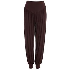Spesifikasi Sh Bergaya Elastis Pinggang Kausal Baggy Yoga Celana Celana Bloomers Untuk Wanita Kopi Ukuran L Cokelat Kehitaman Intl Paling Bagus