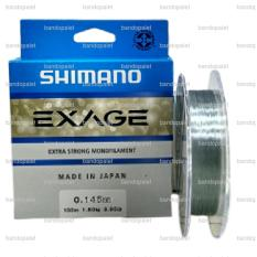 SHIMANO Exage 150M 0.14/3.9Lb Senar Pancing Tali Umpan Joran Pancingan Mancing Mania Air Laut Tawar Makanan Makan Pakan Ikan