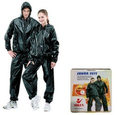 Siken Sauna Suit / Jaket Baju dan Celana Sauna - Hitam size L