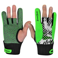 Silicone Non-Slip Bowling Gloves Summer Sports Bike Semi Finger Gloves Cycling Boy Girl Fitness Gym Gloves - intl