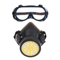 Tipe Filter Karbon Diaktifkan Satu Tangki Gas Masker Dengan Masker Mata Pvc Tpr Hitam Tpr Intl Tiongkok Diskon