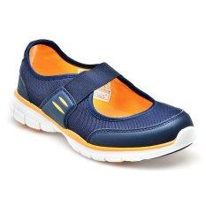 Spesifikasi Skechers Brita Sepatu Slip On Wanita Navy Oranye Terbaru