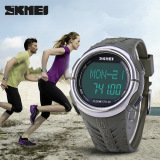 Spesifikasi Skmei 1058 Sports Led Watch Heart Rate With Pedometer Water Resistance Army Green Intl
