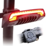 Review Smart Bicycle Light Bike Rear Remote Wireless Light Turn Signal Led Tail Light Intl