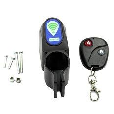 Smart Wireless Remote Control Sepeda Sepeda Alarm Siren Shock Sensor Getaran Bersepeda Kunci Anti-Theft Guard Burglar Alarm- INTL