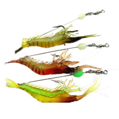 Soft Bait Fishing Lure Hook Bionic Udang Noctilucent Glow Fishing Tackle Bait