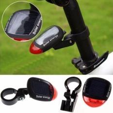 Solar Powered LED Rear Tail Light Light untuk Sepeda Bersepeda Lampu Keselamatan TR-Intl